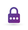 pin code and lock simple icon password protected vector image