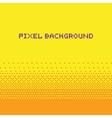 Pixel art style gradient background yellow vector image vector image