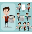 Portrait Of Happy Accountant set vector image