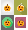 pumpkins for halloween flat icons 15 vector image vector image