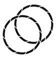 rhythmic gymnastics hoop icon simple style vector image vector image