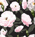 rose seamless pattern4 vector image vector image