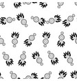 seamless background retro pattern ethnic doodle vector image vector image