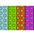 seamless flower pattern in four color art vector image