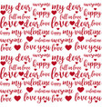 seamless pattern with lettering quotes vector image