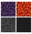 set four halloween seamless patterns vector image vector image