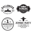 set happy halloween vintage badges vector image
