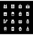 set icons package vector image vector image