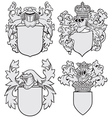 set of aristocratic emblems No8 vector image