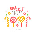 sweet store since 1959 logo colorful hand drawn vector image vector image