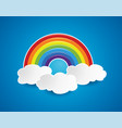 Symbol rainbow and clouds in sky