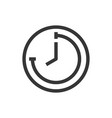 time and clock line style isolated icon vector image vector image