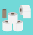 toilet paper flat icon modern flat icon set vector image vector image