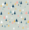 triangle mountains seamless pattern teal vector image vector image