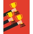 trophy winner cup isolated icon vector image vector image