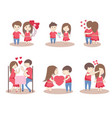valentines day couple love collection vector image