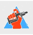 Vape hand in triangle grunge style vector image vector image