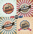 Vintage Quality Guarantee Labels vector image vector image