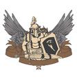 warrior emblem vector image vector image