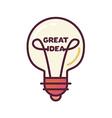 Great Idea Concept vector image
