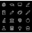 line education icon set vector image