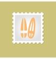 Surfboard stamp vector image