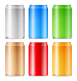 aluminium cans vector image vector image