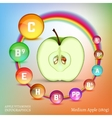 Apple Vitamins Image vector image vector image