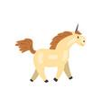 beautiful unicorn magic fantasy animal character vector image vector image