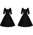 black elegant dress vector image vector image