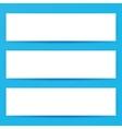 Blank Horizontal Web Banners Mockup vector image vector image