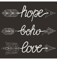 Boho Love Hope vector image vector image