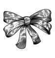 Bow in engraving style isolated on white