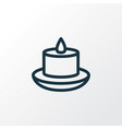 candle icon line symbol premium quality isolated vector image