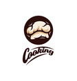 chef logo design cooking logo template bakery vector image vector image