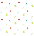 Clean and simple musical seamless pattern in flat vector image vector image