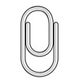 clip icon outline style vector image
