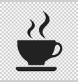 coffee cup icon on isolated transparent vector image