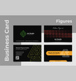 collection of realistic business card geometric vector image vector image
