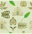 composition tropical leaves seamless symmetry vector image vector image
