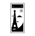 contour eiffel tower of paris ticket vacation vector image