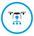 Copter Distribution Icon vector image vector image