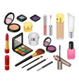 cosmetic beauty make up cosmetology vector image vector image