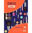 Cosmetics Promo Poster with Date and Time vector image vector image