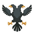 double eagle heraldic byzantium symbol wing and vector image