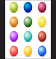 easter eggs color spectrum background vector image vector image