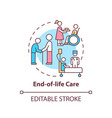 end-of-life care concept icon vector image vector image