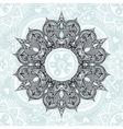 entangle stylized round indian arabic mandala vector image