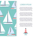 flat sailboats banner template design vector image