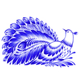 floral decorative ornament peacock vector image